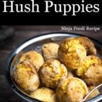 Air Fryer Hush Puppies in a basket