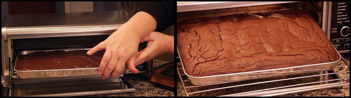 baking homemade fudgy brownies
