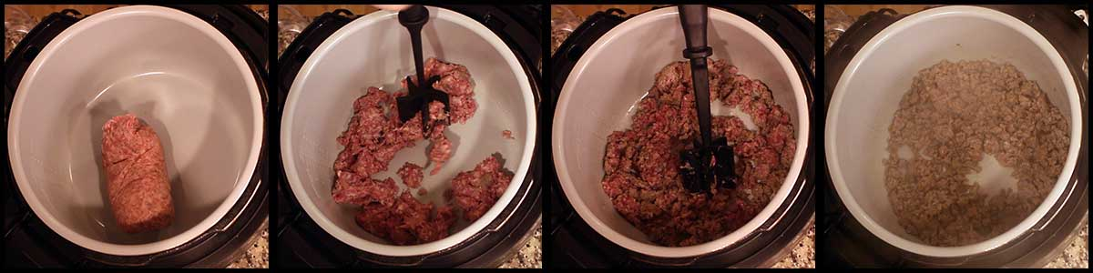 Sautéing Sausage for Breakfast Bread Pudding