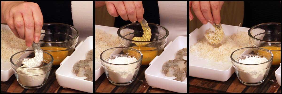 coating shrimp for air fryer coconut shrimp