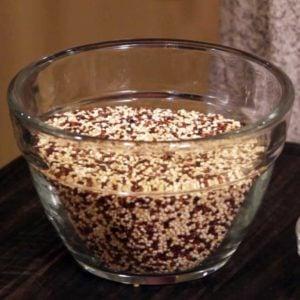 multi colored quinoa in a bowl