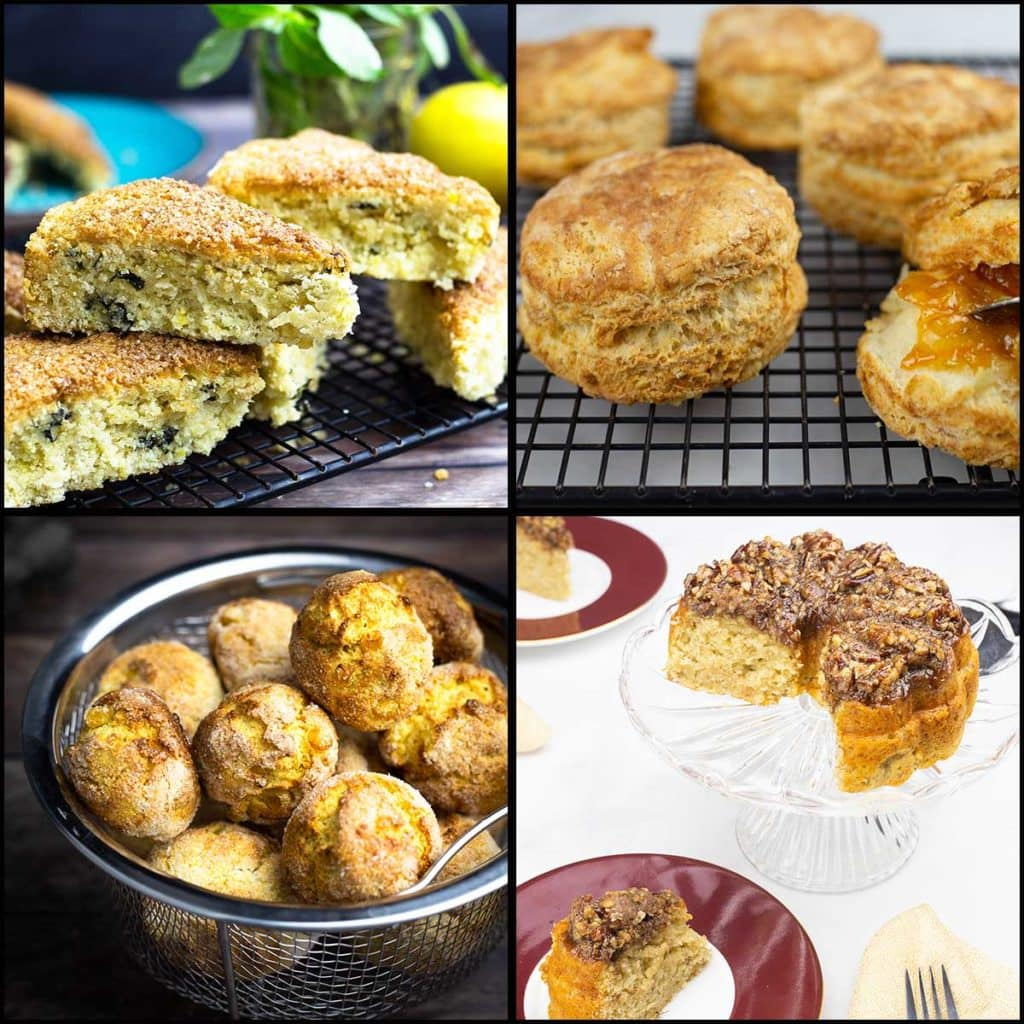 collage of quick bread pictures