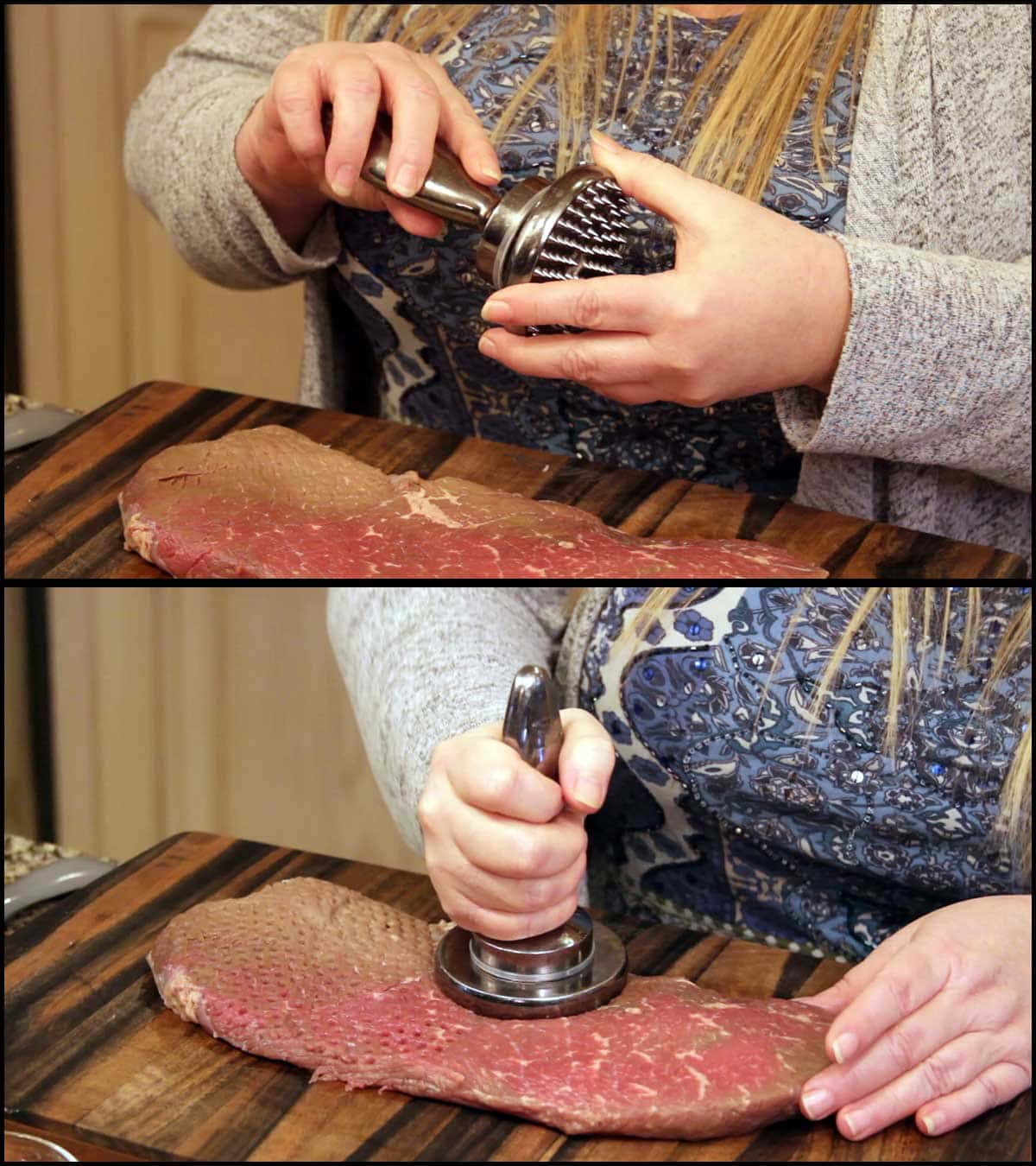 Tenderizing the london broil