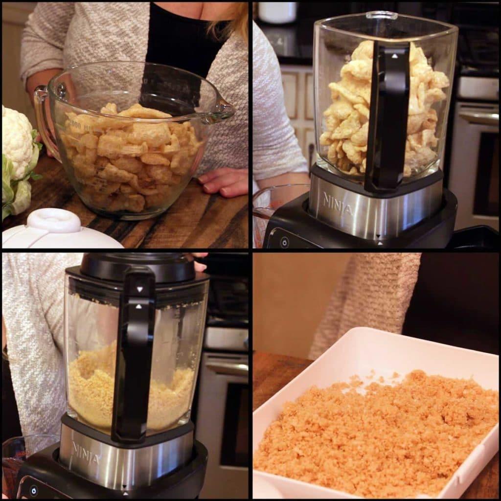 making pork rind flour in the Ninja Foodi Cold & Hot Blender