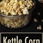 Kettle corn in a mesh basket