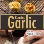 Roasted garlic on a cooling rack