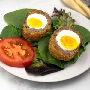 scotch egg with a soft yolk