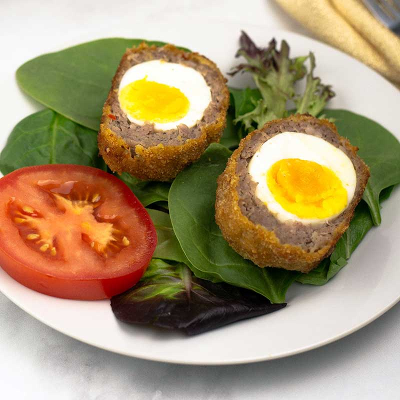 scotch egg with a soft yolk