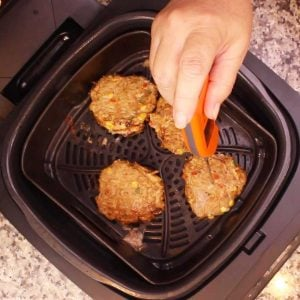 taking a temperature of the Southwest turkey burgers