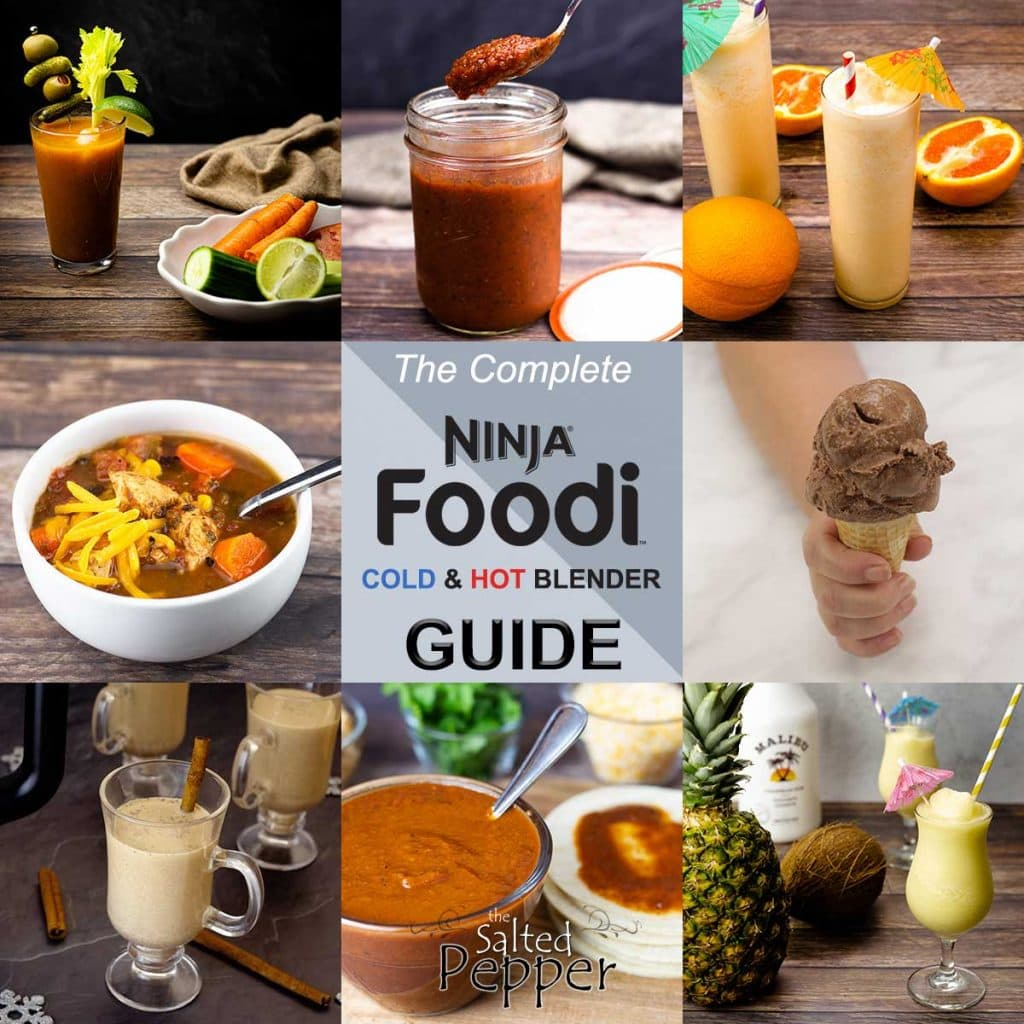 collage of food made with the cold and hot blender