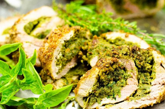 pesto stuffed pork tenderloin cu