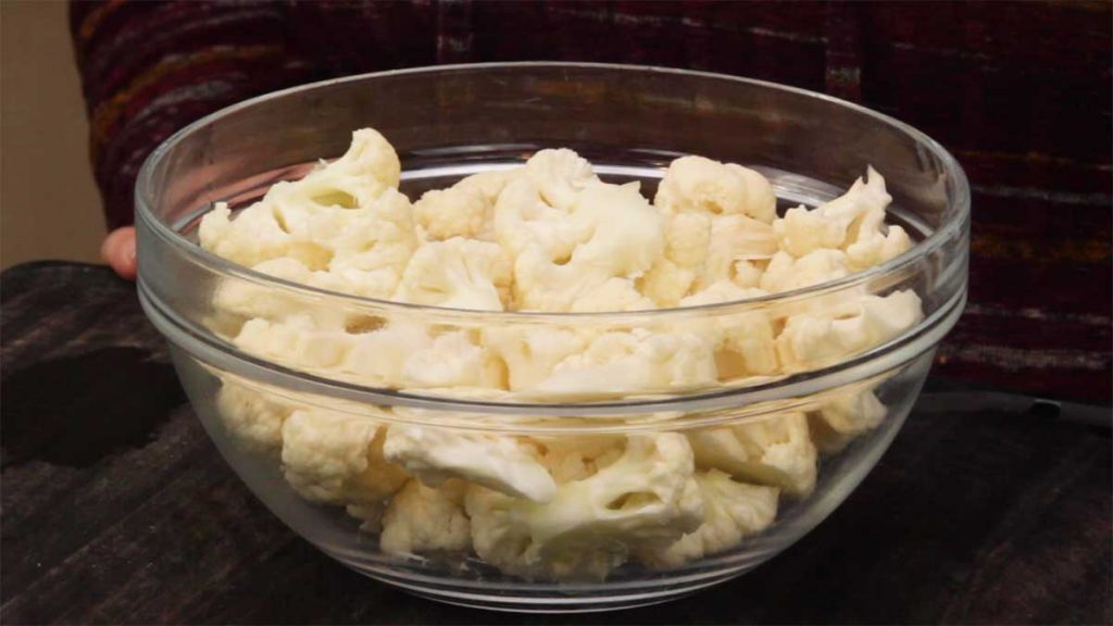 bowl of cauliflower florets