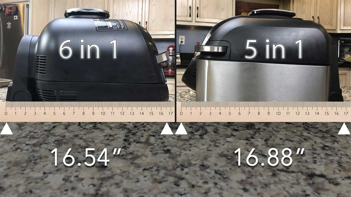 measuring the depth of the grill side by side from front to back