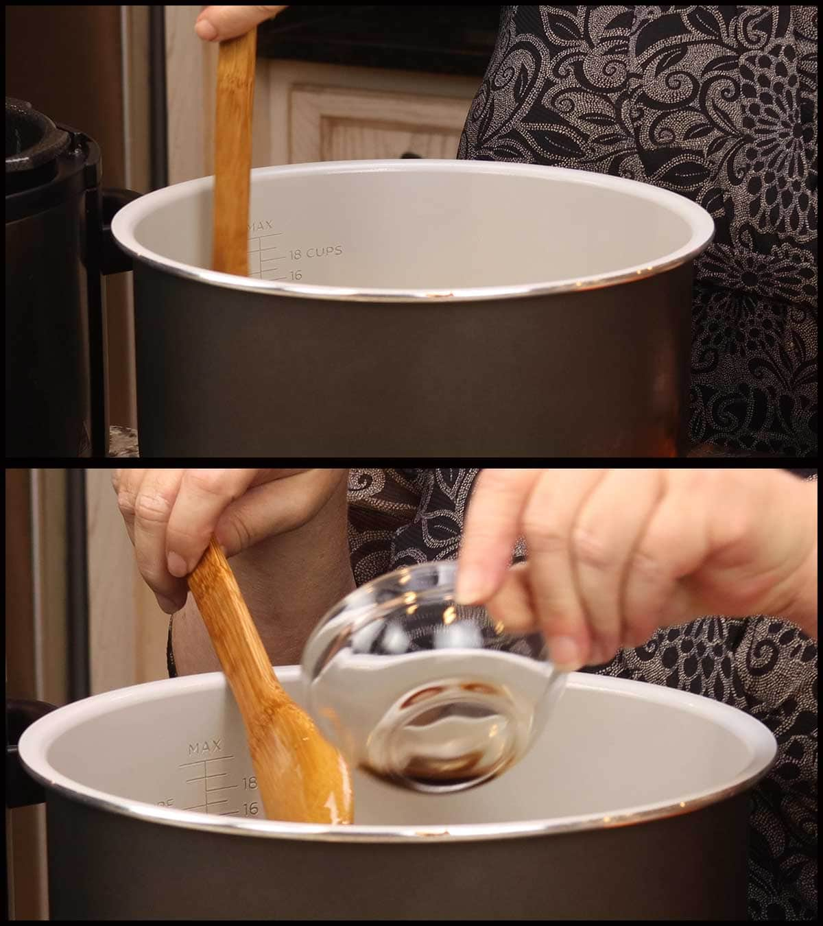 adding vanilla extract to slightly cooled caramel