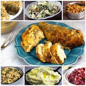 collage of Ninja Foodi Thanksgiving Recipes