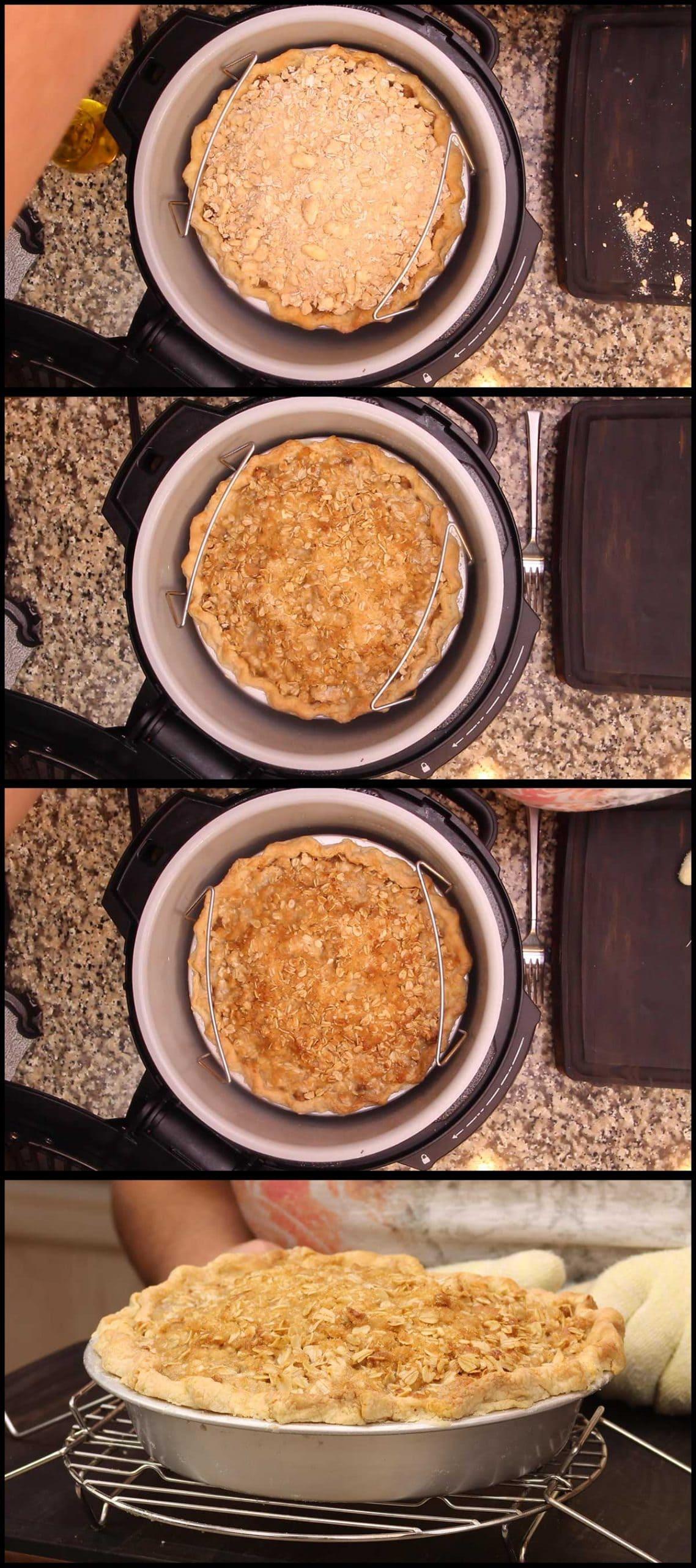 Baking the 10-minute apple pie
