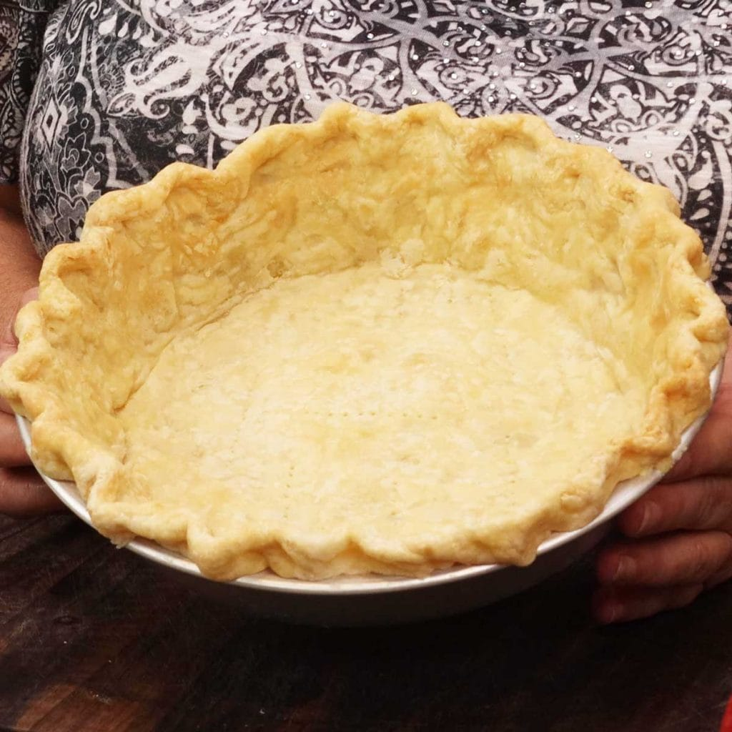 homemade pie crust with fluted edge
