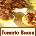 tomato bacon jam on crackers