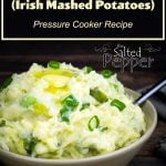colcannon in a bowl with butter on top
