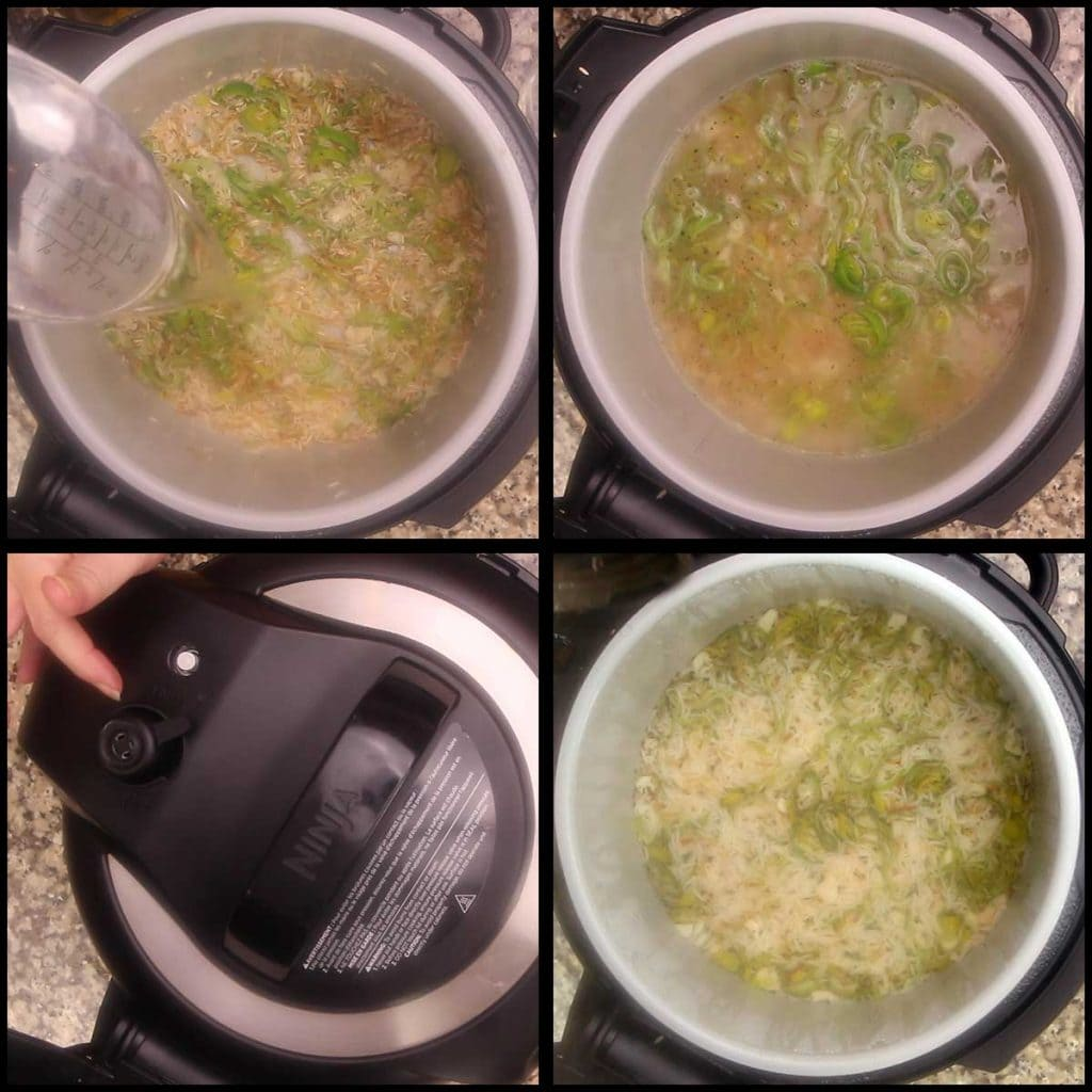 steaming homemade rice a roni