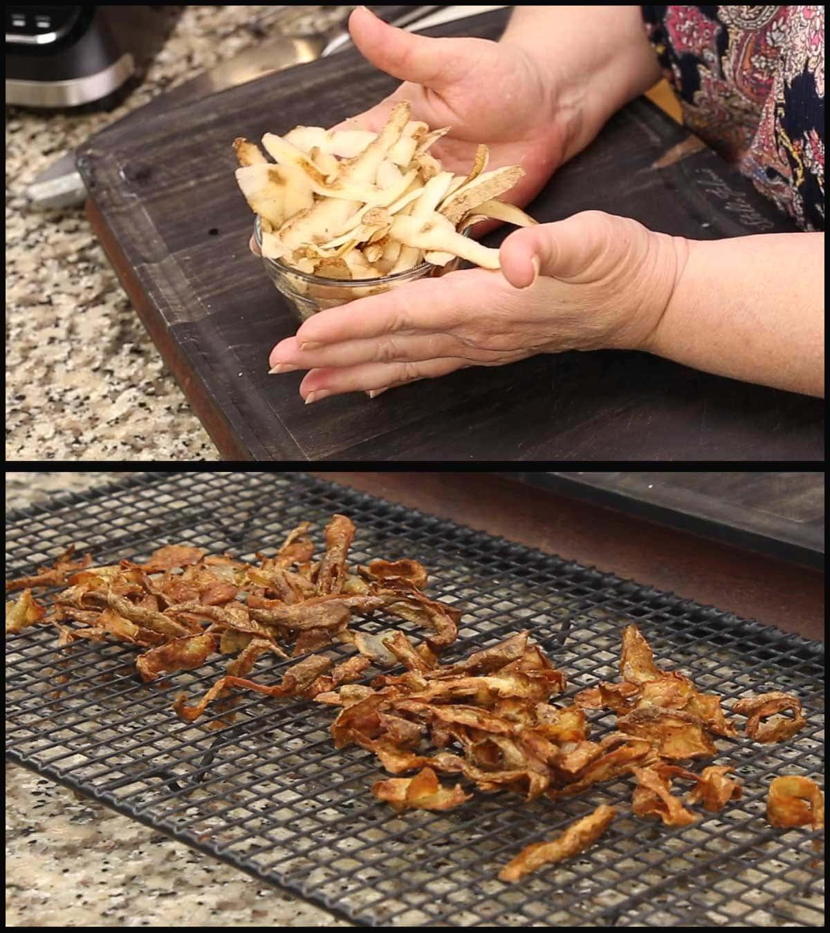 air fryer crispy potato peels