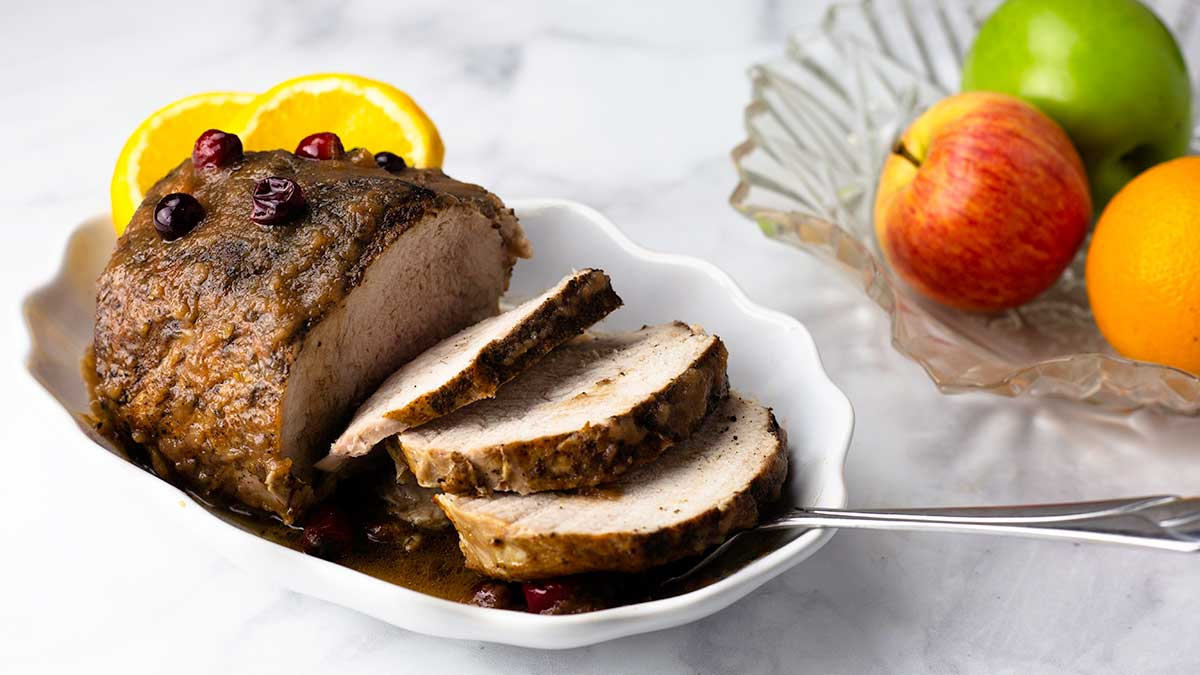 pork loin with apples and cranberries