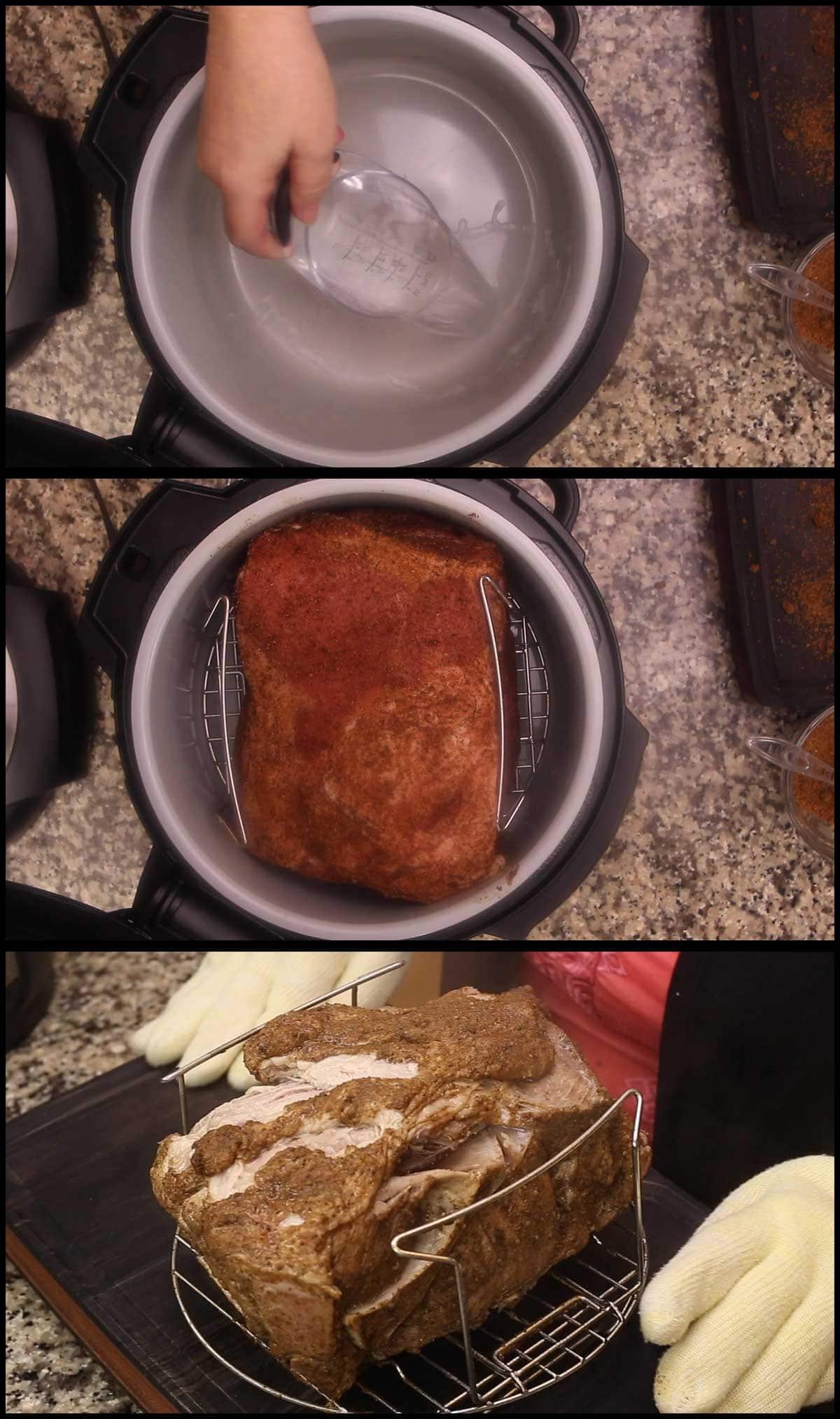 pressure cooked pork butt