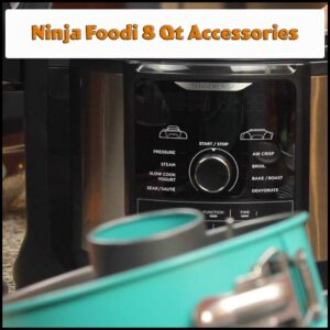 graphic for ninja foodi 8qt accessories with text