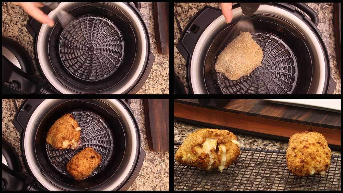 air frying chicken cordon bleu